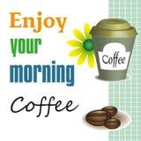 Geniet van uw ochtendkoffie Royalty-vrije Stock Afbeeldingen