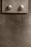 Genietete Naht auf dem Metall lizenzfreie stockbilder