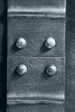 Genietete Naht auf dem Metall lizenzfreie stockfotografie