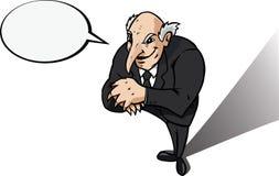 Genio u hombre de negocios malvado stock de ilustración