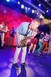 Genios jovenes del jazz en el club Olympia Fotos de archivo