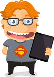 Genious with tablet Royalty Free Stock Photography