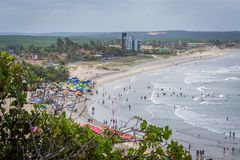 Beaches of Brazil - Genipabu RN stock photography