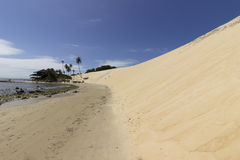 Genipabu beach and dunes in Natal, RN, Brazil. Genipabu or Jenipabu is a beach with a complex of dunes, a lagoon and an environmental protection area APA located Stock Image