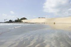 Genipabu diuny w Natal i plaża, RN, Brazylia Obraz Stock