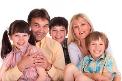 Genitori & bambini immagine stock