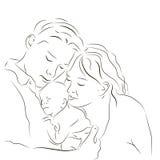 Genitori con un appena nato Immagini Stock