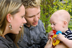 Genitori e bambino Fotografie Stock