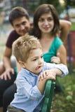 Genitori e bambino felici Fotografia Stock Libera da Diritti