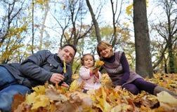 Genitori e bambino felici fotografia stock