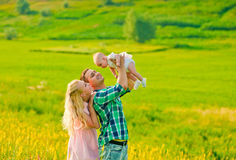 Genitori felici Fotografia Stock Libera da Diritti