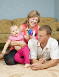 Genitori felici con il bambino Immagine Stock Libera da Diritti