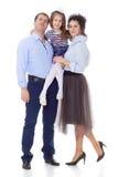 Genitori felici con una piccola figlia immagine stock libera da diritti
