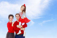 Genitori felici e giovane figlia fotografie stock