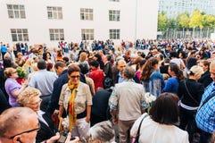 Genitori riuniti per il nuovo anno dello studioso Fotografia Stock Libera da Diritti