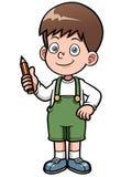 Genius Boy. Vector illustration of Genius Boy Stock Photos