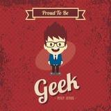 Genius geek retro cartoon Royalty Free Stock Photo