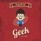 Genius geek retro cartoon Royalty Free Stock Photos
