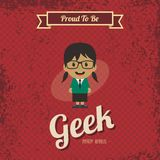 Genius geek retro cartoon Stock Photos
