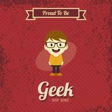 Genius geek retro cartoon Royalty Free Stock Photo