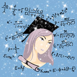 Genius girl Stock Photo