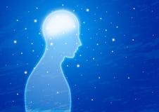 Genius. Human brain genius power illustration Stock Photography