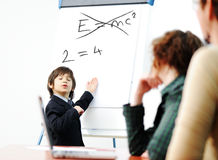 Genius kid on business Stock Photos