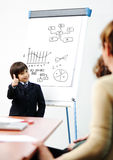 Genius kid on business Stock Images