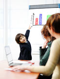 Genius kid on business Royalty Free Stock Photography