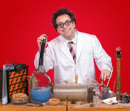 Genius in the laboratory Royalty Free Stock Photos