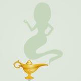 Genius in the magic lamp. Illustration of genius in the magic lamp Royalty Free Stock Photo