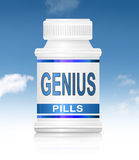 Genius pills. Royalty Free Stock Photos
