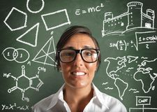 Genius teacher Stock Photography
