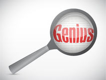 Genius under magnify illustration design Stock Image