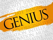 Genius word cloud collage. Creative business concept background Stock Images
