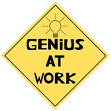 Genius At Work. A funny illustration. Genius At Work signal stock illustration