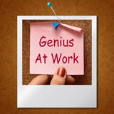 Genius At Work Note Means Do Not Disturb Stock Photo