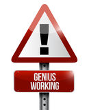 Genius working road sign illustration design Stock Photo