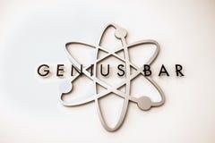 Geniusza Prętowy logo Zdjęcie Stock