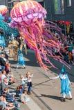 Genk, Belgio - 1? maggio 2019: Partecipanti della O-parata annuale fotografia stock