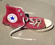 Used torn Converse All Star Stock Photo