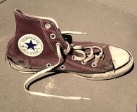 Used torn Converse All Stars Royalty Free Stock Image