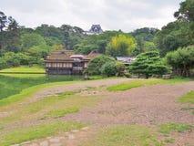 Genkyuen trädgård i Hikone, Japan Arkivbild