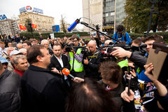 Gennady Gudkov speaks at an anti-Putin protest Royalty Free Stock Photos