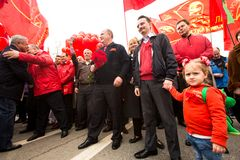 Gennady Zyuganov during procession of May Day Royalty Free Stock Photo