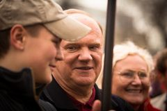 Gennady Zyuganov during procession of May Day Royalty Free Stock Images