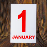1° gennaio Fotografie Stock