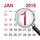 Gennaio 2016 illustrazione di stock