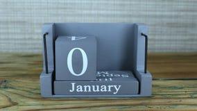 6 gennaio, calendario del cubo stock footage