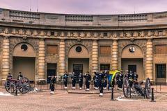 21 gennaio 2017: Cambiamento della guardia nel palazzo reale della S Immagine Stock Libera da Diritti